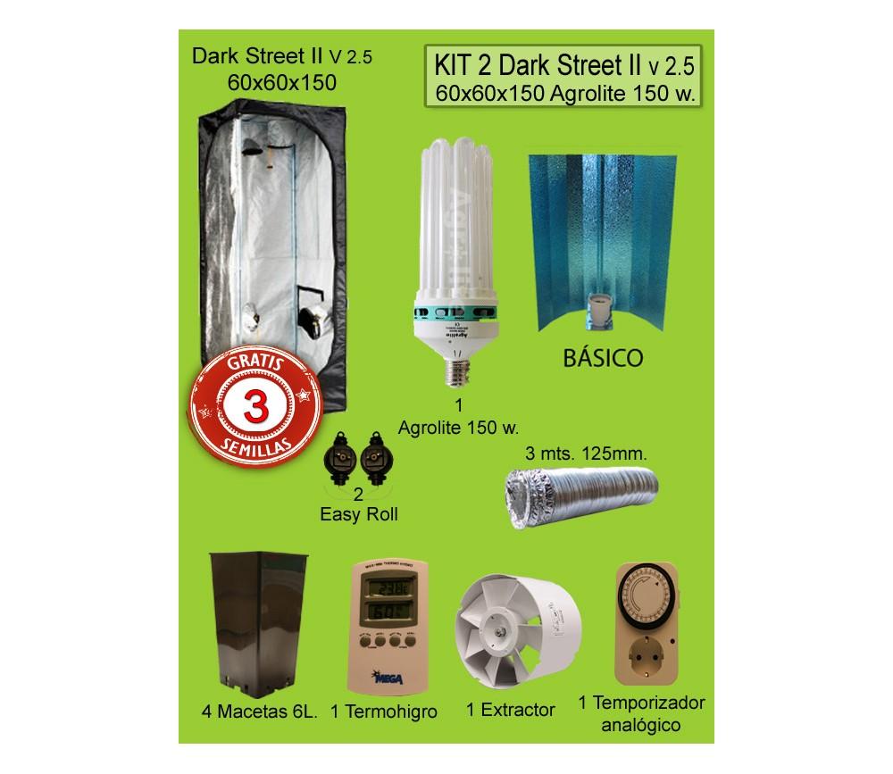 KIT 2 - DARK STREET V3 60X60X150 BAJO CONSUMO 125W