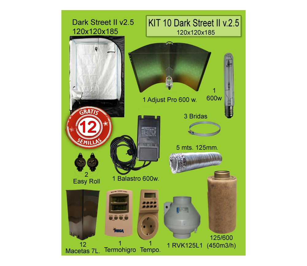 KIT 10 - DARK STREET V3 120X120X185 ADJUST PRO