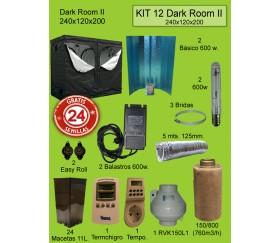 KIT 12 - DARK ROOM W V3 240X120X200 600W PURE LIGHT