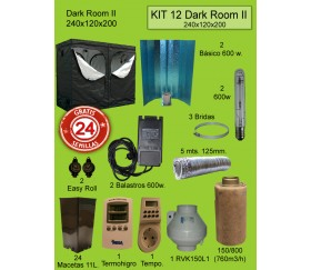 KIT 12 - DARK ROOM W V3 240X120X200 600W PURE LIGHT