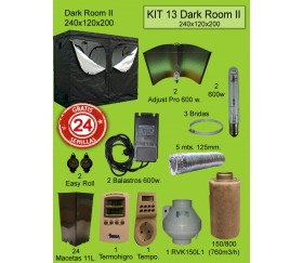 KIT 13 - DARK ROOM V3 240X120X200 ADJUST A WINGS 600W