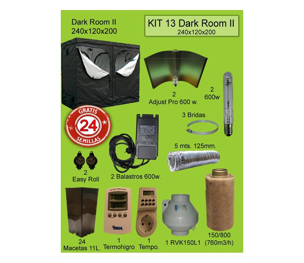 KIT 13 - DARK ROOM V3 240X120X200 ADJUST A WINGS 600W