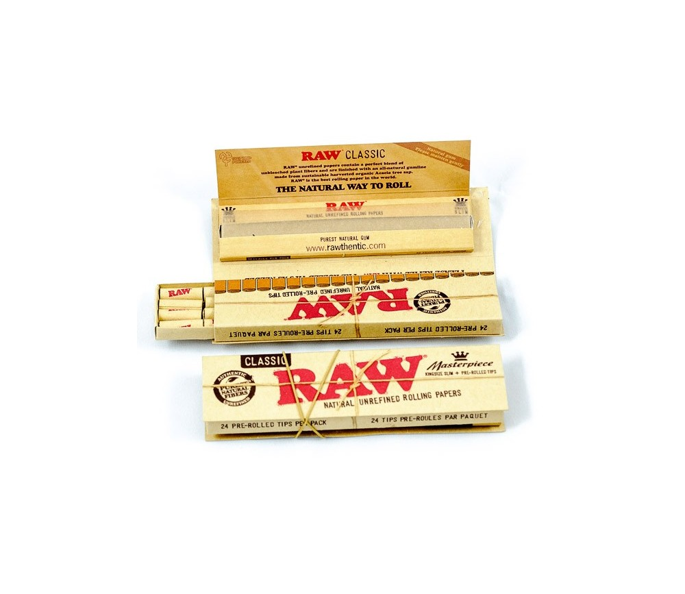 PAPEL RAW MASTERPIECE KS + TIPS PRE-ROLLED