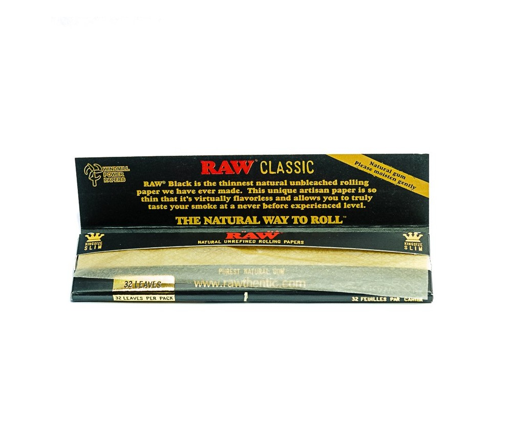 Papel RAW Classic Black King Size