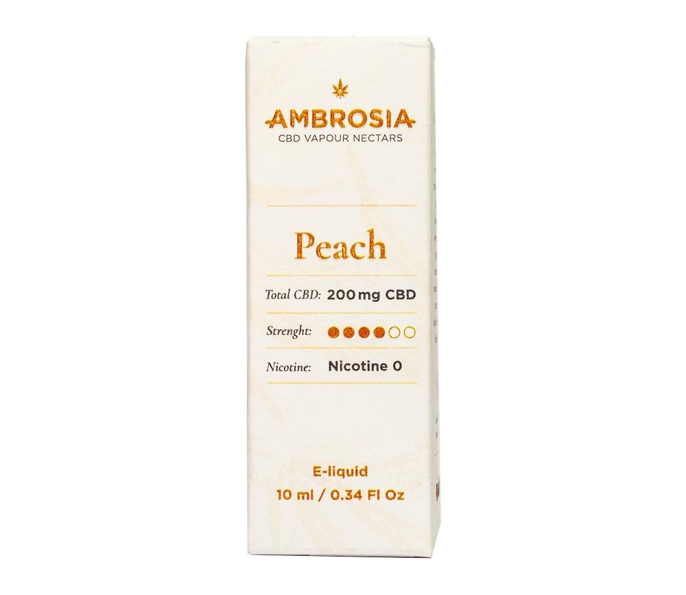 Ambrosía CBD e-Liquid sabor Peach (melocotón)