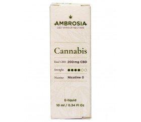 Ambrosía CBD e-liquid Sabor Cannabis