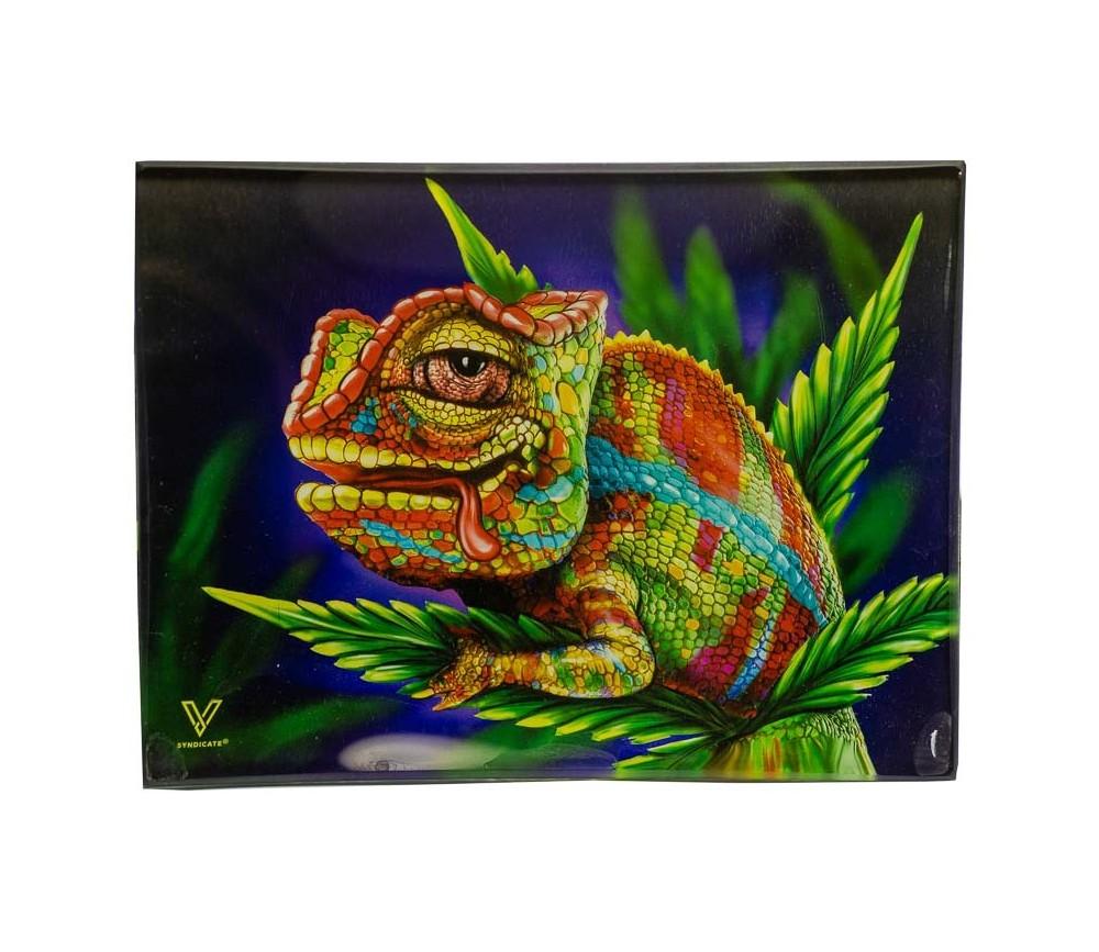 Bandeja para liar de cristal Stoned Chameleon