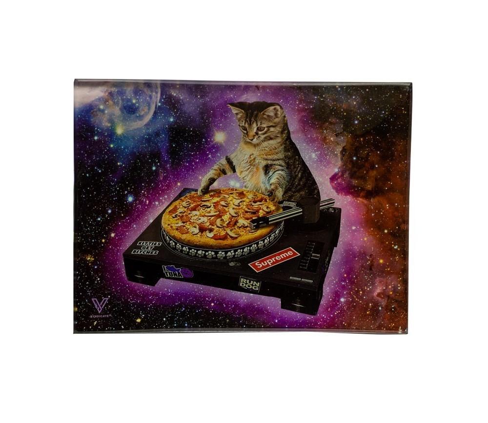 Bandeja para liar de cristal DJ Cat