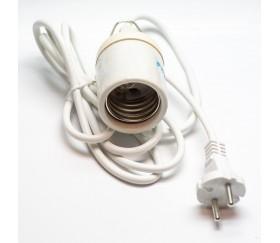 casquillo cerámico CFL con cable y clavija