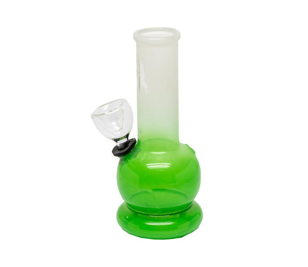 Bong de Cristal Bob Marley Verde de 13 cm