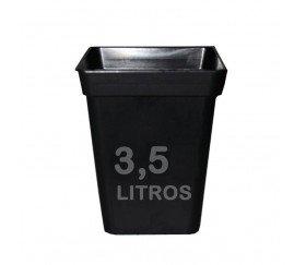 Maceta negra cuadrada de 15x15x20 cm de 3,5 L