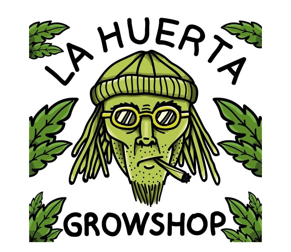 LA HUERTA GROW SHOP LOGO ILLUSTRATION STICKER