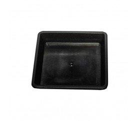 Plato Negro Cuadrado de 15x15x3 cm