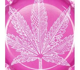 Cenicero de Metal Redondo Pink Weed 14 cm